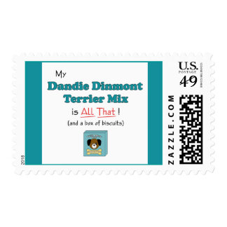 My Dandie Dinmont Terrier Mix is All That! Postage Stamp