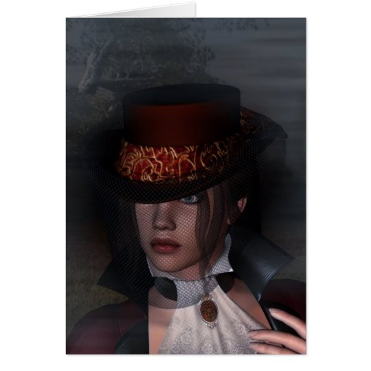My Dark Lady 01 ~ Portrait Card