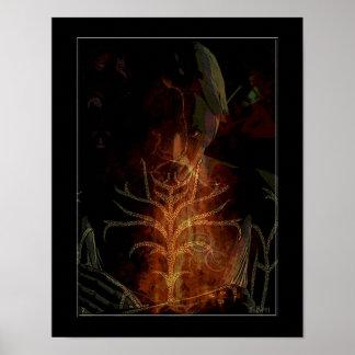 "My Dark Side Digital Art Poster 11""x14"""