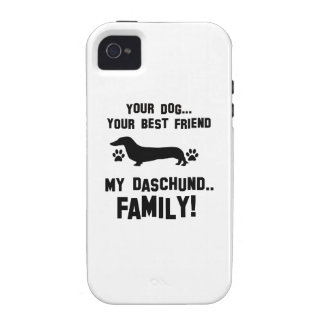 My daschund family, your dog just a best friend iPhone 4/4S cases