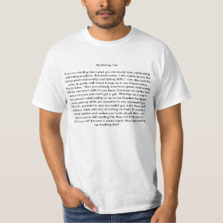 My Dating Tips T-Shirt