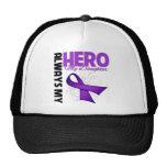 My Daughter Always My Hero - Purple Ribbon Hats