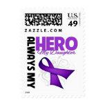 My Daughter Always My Hero - Purple Ribbon Postage