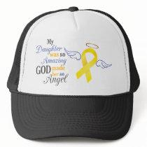 My Daughter An Angel - Bladder Cancer Trucker Hat