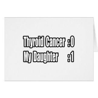 My Daughter Beat Thyroid Cancer (Scoreboard) Card