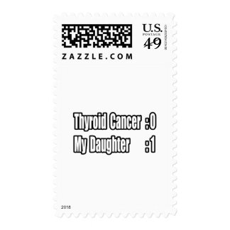My Daughter Beat Thyroid Cancer (Scoreboard) Postage Stamp
