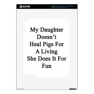 My Daughter Doesn't Heal Pigs For A Living She Doe iPad 3 Skins