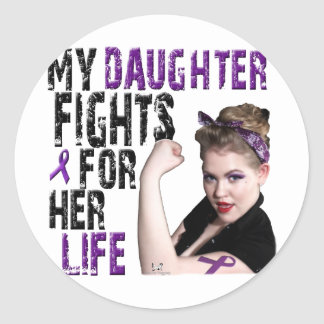 My DAUGHTER fights for her life... Classic Round Sticker