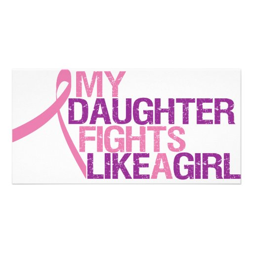 my daughter fights like a girl photo card