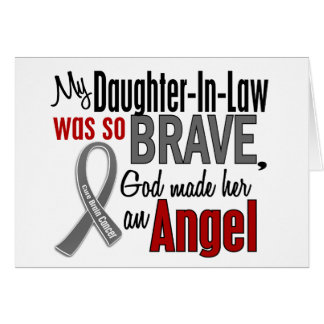 My Daughter-In-Law Is An Angel 1 Brain Cancer Greeting Cards