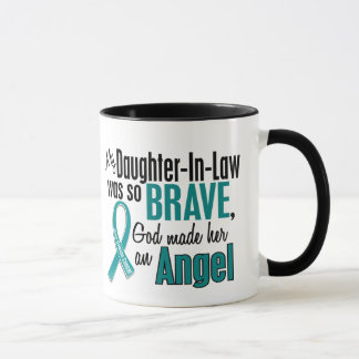 My Daughter-In-Law Is An Angel 1 Ovarian Cancer Mug
