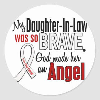 My Daughter-In-Law Is An Angel Lung Cancer Classic Round Sticker