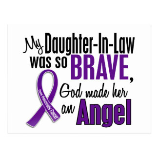 My Daughter-In-Law Is An Angel Pancreatic Cancer Postcard
