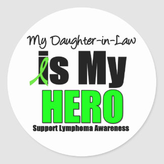 My Daughter-in-Law is My Hero Classic Round Sticker