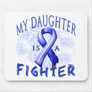 My Daughter Is A Fighter Blue Mouse Pad