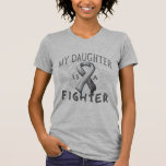 My Daughter Is A Fighter Grey T-shirts