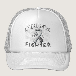 My Daughter Is A Fighter Grey Trucker Hat