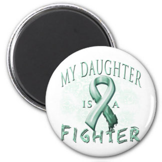 My Daughter is a Fighter Teal Magnets