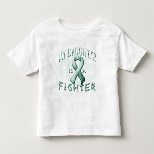 My Daughter is a Fighter Teal Toddler T-shirt