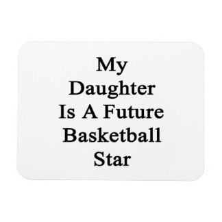 My Daughter Is A Future Basketball Star Rectangle Magnet