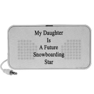 My Daughter Is A Future Snowboarding Star Notebook Speakers