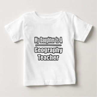 My Daughter Is A Geography Teacher Baby T-Shirt