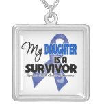 My Daughter  is a Survivor - Colon Cancer Pendants