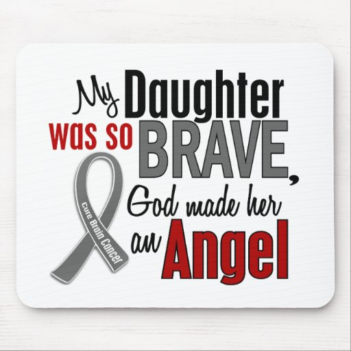 My Daughter Is An Angel 1 Brain Cancer Mouse Pads