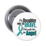 My Daughter Is An Angel 1 Ovarian Cancer 2 Inch Round Button