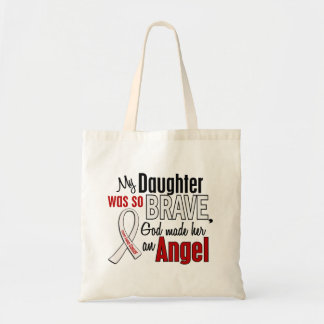 My Daughter Is An Angel Lung Cancer Budget Tote Bag