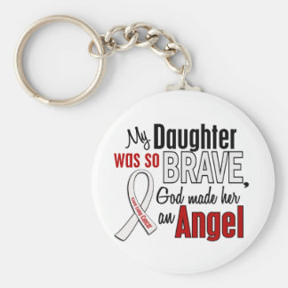 My Daughter Is An Angel Lung Cancer Keychain