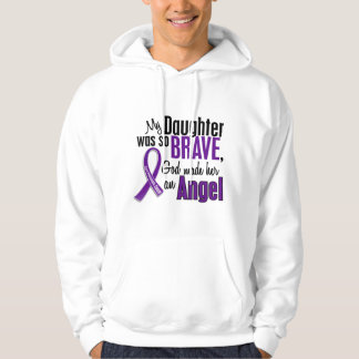 My Daughter Is An Angel Pancreatic Cancer Hoodie