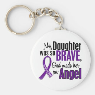 My Daughter Is An Angel Pancreatic Cancer Keychain
