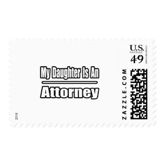My Daughter Is An Attorney Stamp