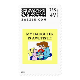 my daughter is autistic postage