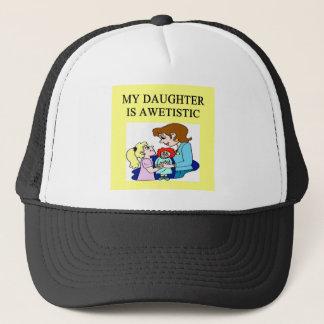 my daughter is autistic trucker hat