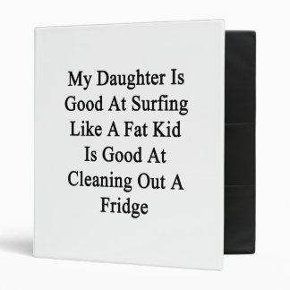 My Daughter Is Good At Surfing Like A Fat Kid Is G 3 Ring Binders