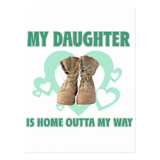 My Daughter is home outta my way Postcard