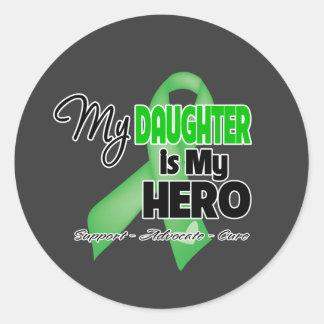My Daughter is My Hero - Kidney Cancer Classic Round Sticker