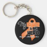 My Daughter is My Hero - Leukemia Key Chain