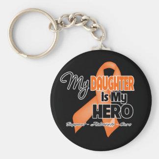 My Daughter is My Hero - Leukemia Basic Round Button Keychain
