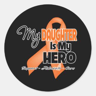 My Daughter is My Hero - Leukemia Classic Round Sticker