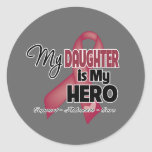My Daughter is My Hero - Multiple Myeloma Classic Round Sticker