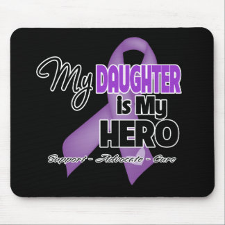 My Daughter is My Hero - Purple Ribbon Mouse Pad