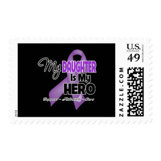 My Daughter is My Hero - Purple Ribbon Stamps