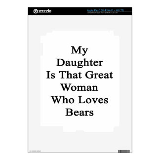 My Daughter Is That Great Woman Who Loves Bears Skins For iPad 3