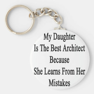 My Daughter Is The Best Architect Because She Lear Keychain