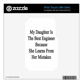 My Daughter Is The Best Engineer Because She Learn Skin For iPod Touch 4G