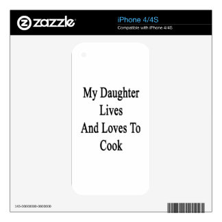 My Daughter Lives And Loves To Cook Decal For iPhone 4