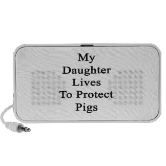 My Daughter Lives To Protect Pigs Speaker